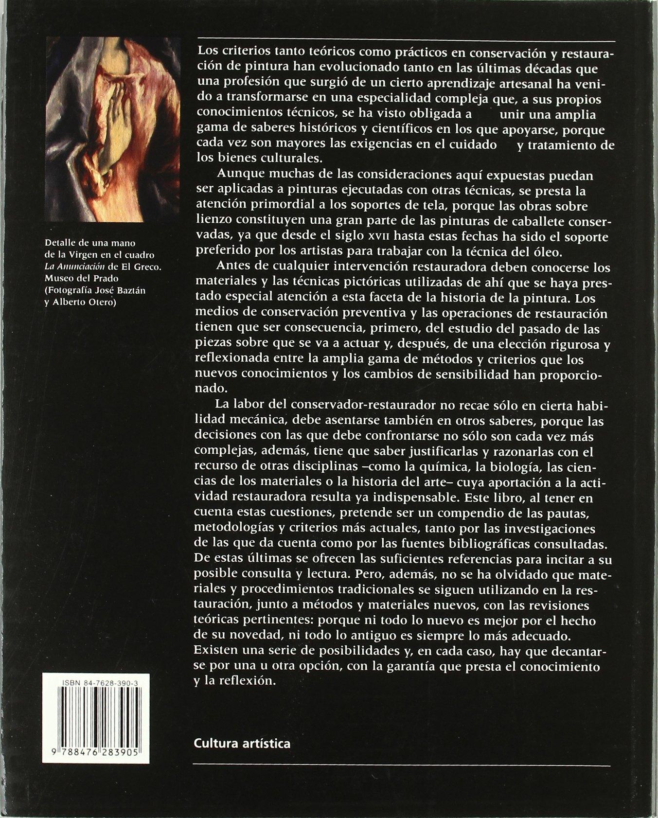 Conservacion y Restauracion de Pintura Sobre Lienzo (Spanish Edition) by Ediciones del Serbal