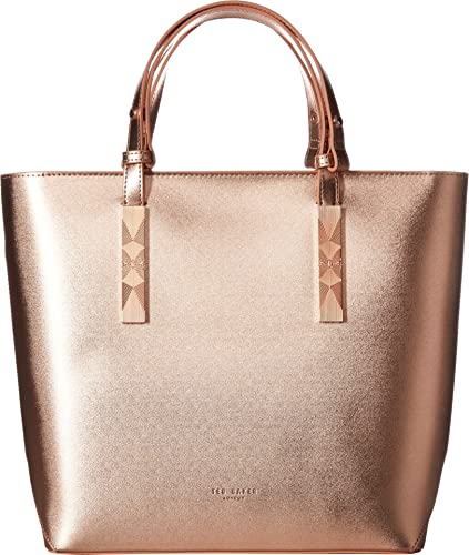 44b718e6c Ted Baker Women s Core Leather Large Tote Rose Gold One Size  Amazon ...