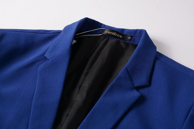 Benibos Mens Casual 1 Button Slim Fit Blazer Jacket