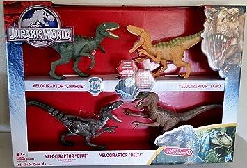 Hasbro Velociraptor de Jurassic World Pack de 4: Amazon.es ...