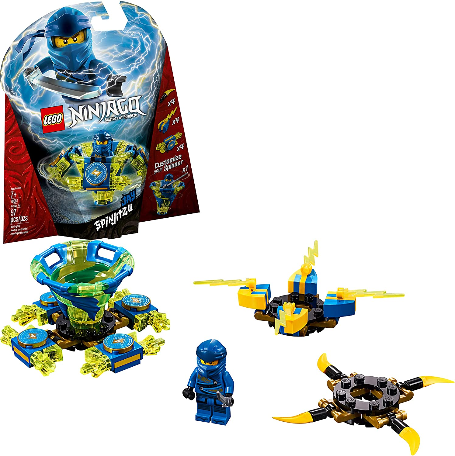 LEGO NINJAGO Spinjitzu Jay 70660 Building Kit, 2019 (97 Pieces)