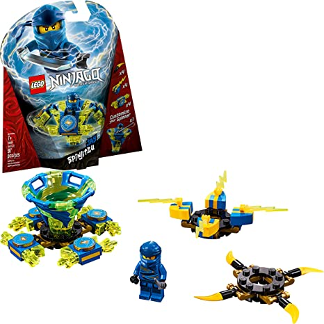 LEGO NINJAGO Spinjitzu Jay 70660 Building Kit (97 Pieces)