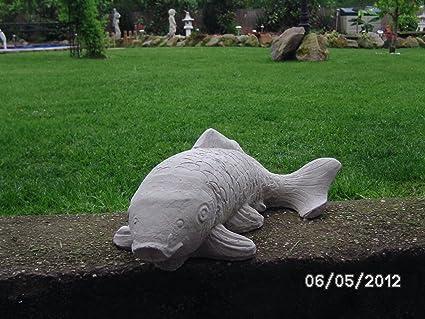 Fisch Figuren Terrasse Tierfiguren Teich Koi Garten Steinfiguren frostfest