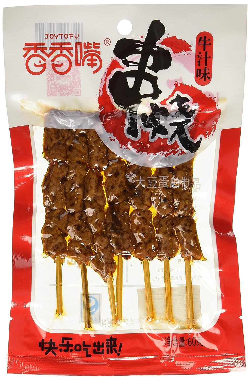 Xiangxiangzui Spicy Tofu Snack Skewered Vegetarian, Beef Taste, 2.6 Ounce