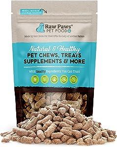 Raw Paws Freeze Dried Rabbit Treat for Dogs & Cats, 4-oz - Raw Rabbit Dog Treats Made in USA - Cat Rabbit Treats Made with 100% Rabbit Meat - Hormones & Antibiotic Free Dog Rabbit Treats for Training