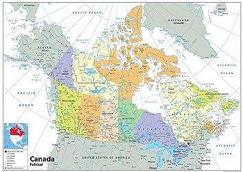 Canada Political Map Paper Laminated A2 Size 42 X 59 4 Cm