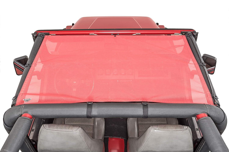 MasterTop 14200102 ShadeMaker Mesh Red YJ Jeep Brief Tops