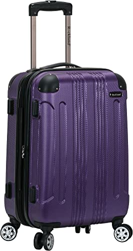 Rockland London Hardside Spinner Wheel Luggage, Purple, Carry-On 20-Inch