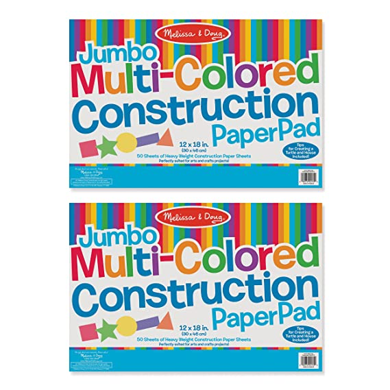 amazon com melissa doug jumbo multi colored construction paper