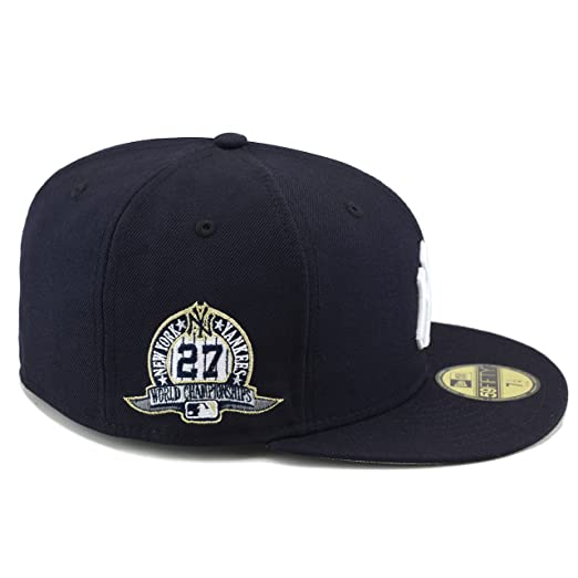 d6dd86c78fddc New Era York Yankees Fitted Hat Cap 27 World Series Championships at Amazon  Men s Clothing store