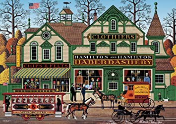 Buffalo Games - Charles Wysocki - The Haberdashery - 300 Large Piece Jigsaw Puzzle