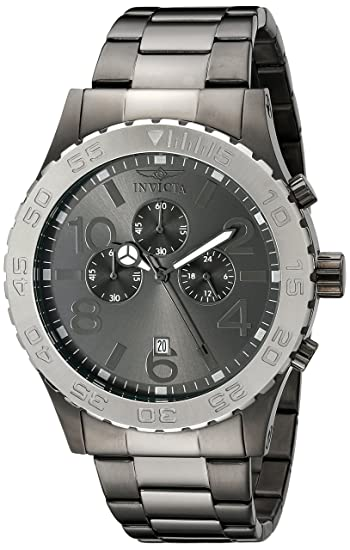 Amazon.com: Invicta Mens 15164 Specialty Chronograph Gunmetal Ion-Plated Stainless Steel and Charcoal Dial Watch: Invicta: Watches