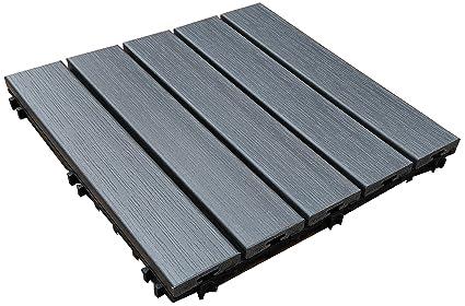 U Sen Tree Pure PS Outdoor Deck U0026 Patio Flooring Interlocking Tiles 12 X
