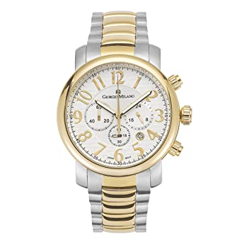 """Giorgio Milano Womens watch""""GIOVANNA"""" chronograph Large stainless steel case. Dial with Arabic"""
