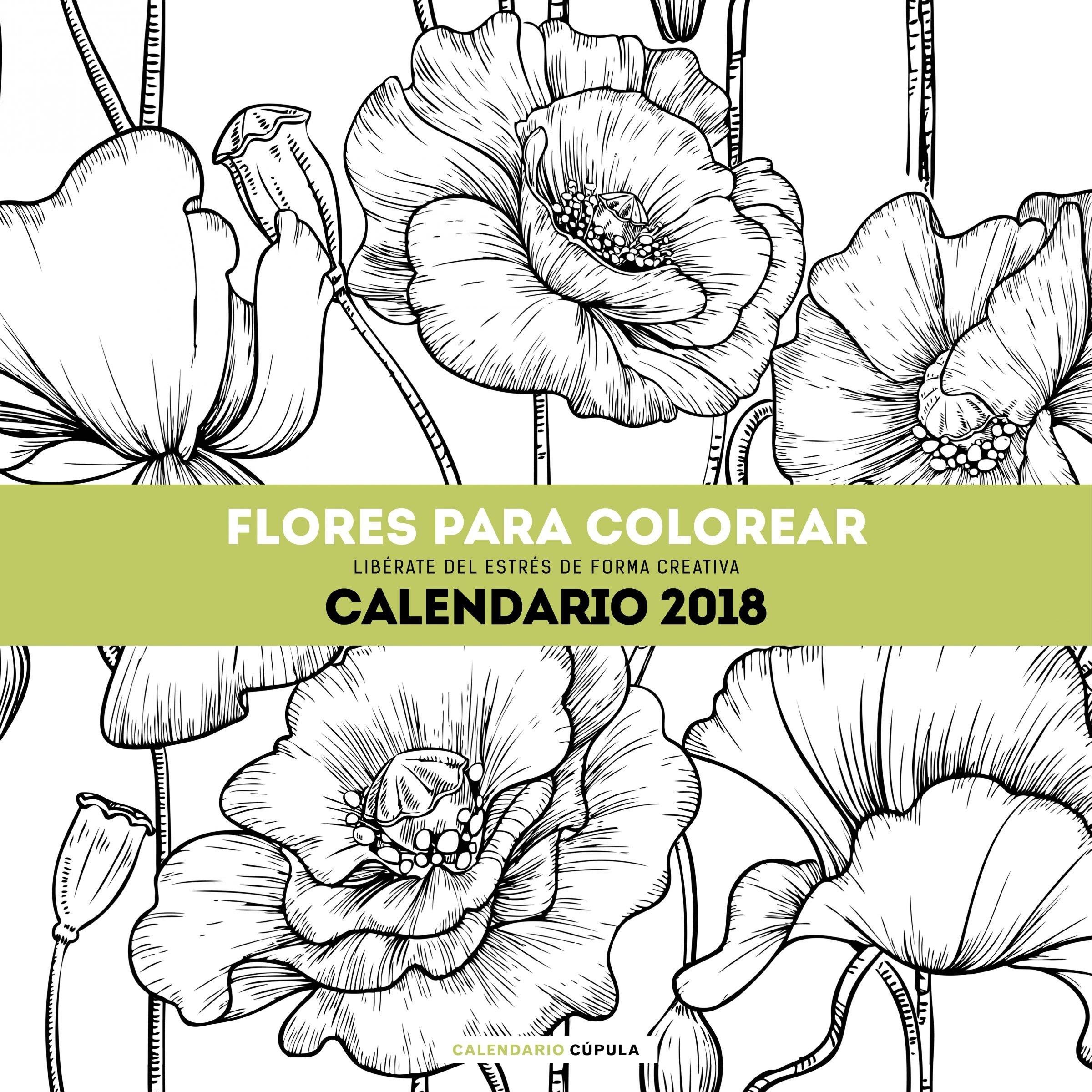 Calendario Flores para colorear 2018: AA. VV.: 9788448023560: Amazon ...
