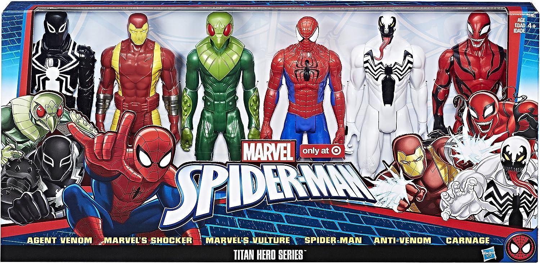 Pack Set 6 Figuras Spider-Man Hombre Araña - Figuras Titan Hero ...