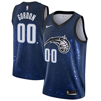 729a2288558 Nike Aaron Gordon Orlando Magic City Edition Space Swingman Jersey - Black  & Blue (X