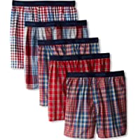Hanes Ultimate Men's 5-Pack Yarn Dye Exposed Waistband Boxer - Colors May Vary