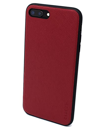 detailed look f9957 5bae4 iPhone 8 Plus (OX series) (Maroon) Slim Protective Corner Cushion Leather  Design for Apple iPhone 8 Plus (2018) CASEOX