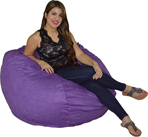 Cozy Sack Bean Bag Chair: Large 4 Foot Foam Filled Bean Bag Large Bean Bag Chair