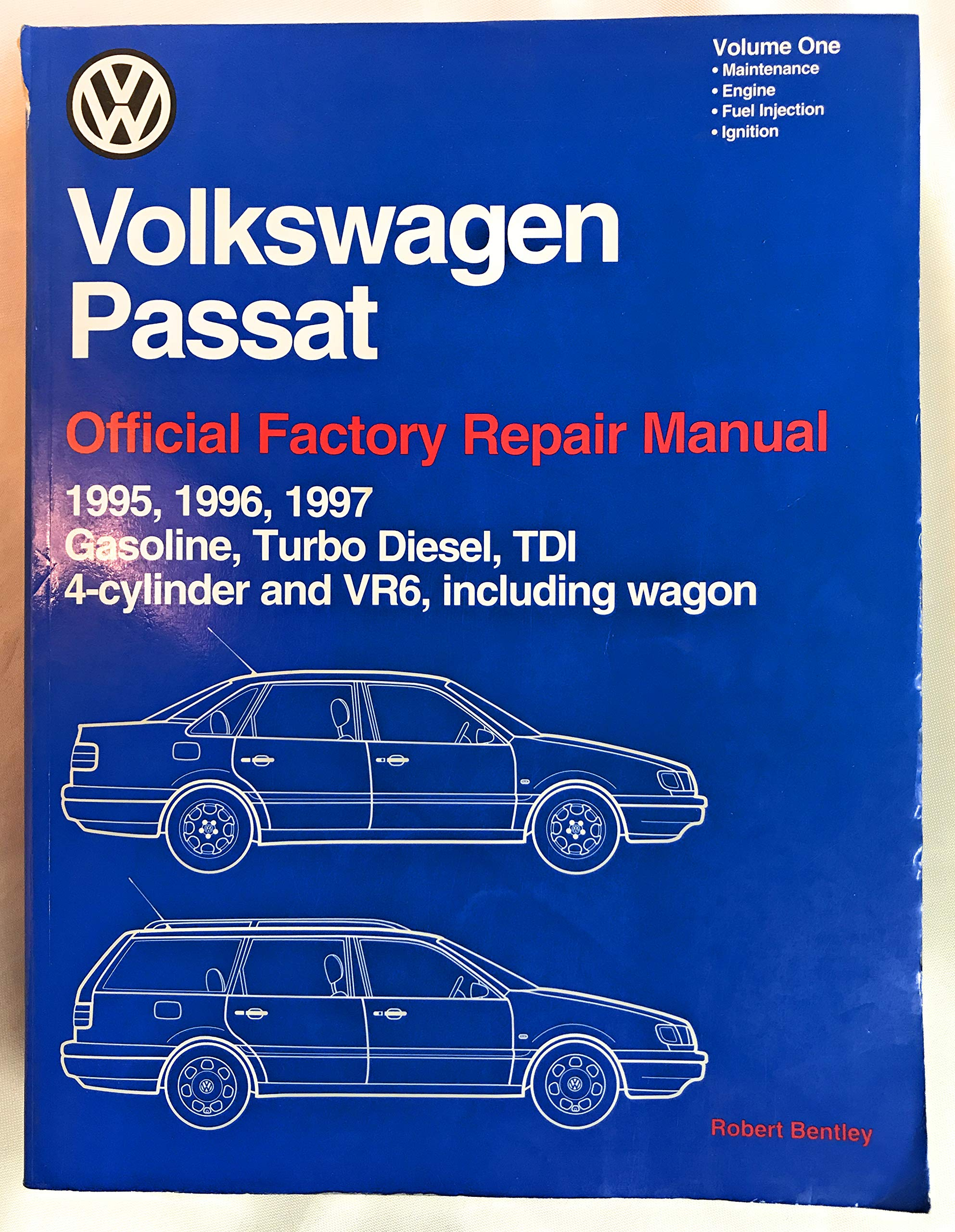 Volkswagen Passat (Volume 1) Official Factory Repair Manual, 1995-1997. Gasoline, Turbo Diesel, TDI, 4-Cylinder and VR6, Including Wagon Paperback – 1997