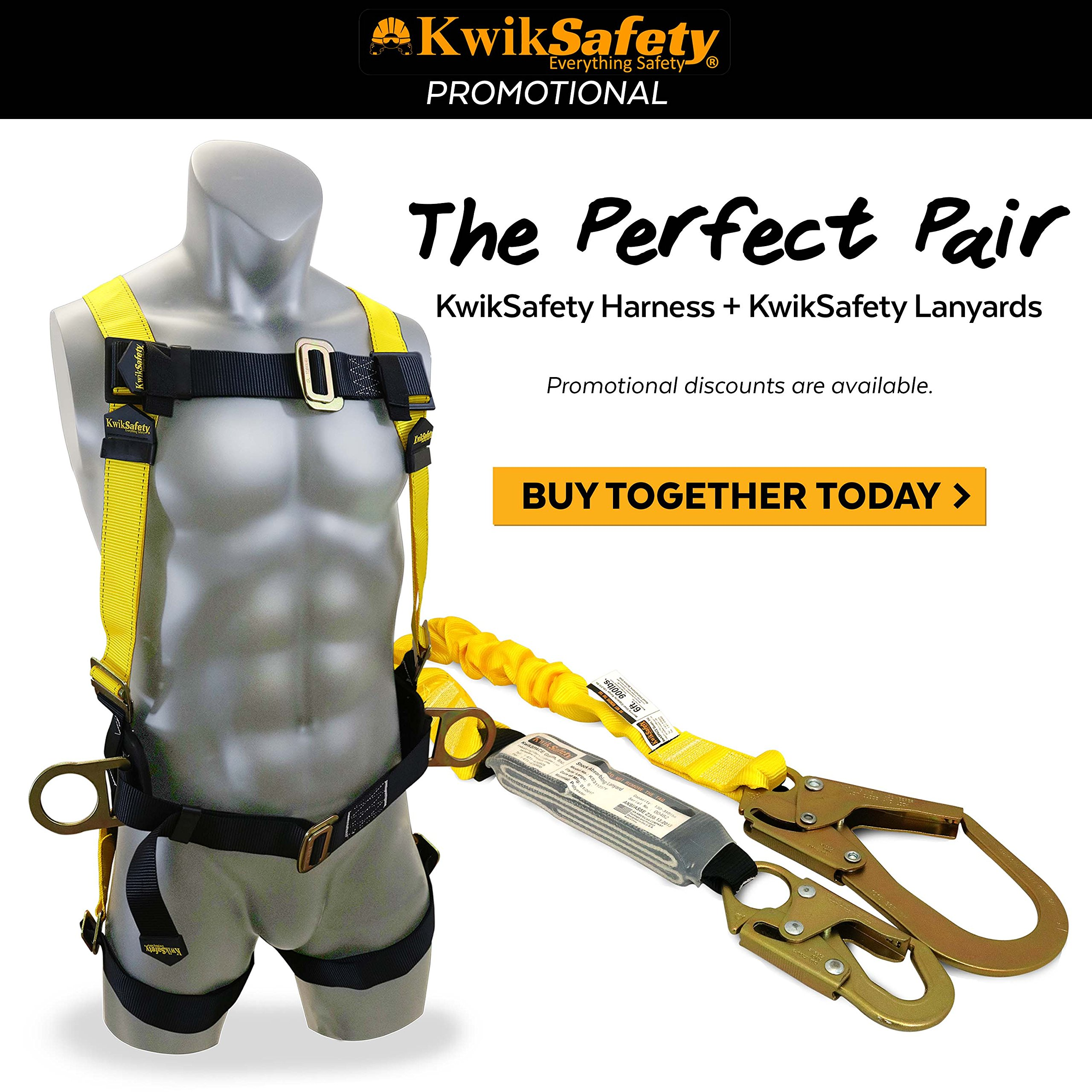 KwikSafety BOA | Single Leg 6ft Tubular Stretch Safety Lanyard | OSHA Approved ANSI Compliant Fall Protection | EXTERNAL Shock Absorber | Construction Arborist Roofing | Snap & Rebar Hook Connectors by KwikSafety (Image #9)