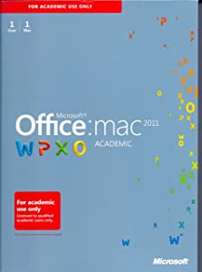2011 Microsoft Office From Mac: Academic Edition