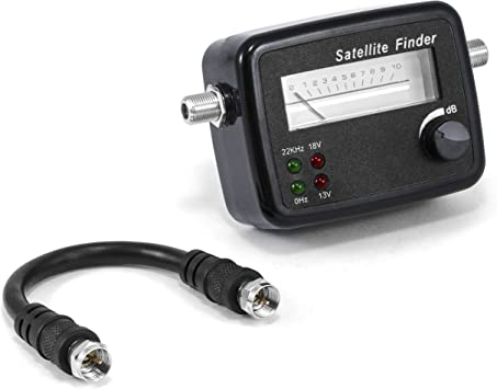 CSL - Localizador de satélites con Escala - Aguja indicadora medidor con señal acústica - Apto para HD - medidor posicionamiento Ajuste óptimo de ...