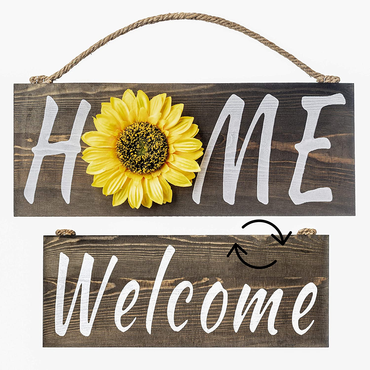 Sunflower Welcome Sign for Home Decor - Front Door Decorations - Hanging Welcome Sign - Sunflower Wall Decor Farmhouse -  Welcome Wooden Sign for Front Porch Sign