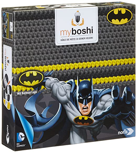 Noris Spiele 606311365 Myboshi Superhelden Batman Häkel Set