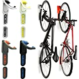 Reliancer 4 Color Foldable Vertical Bike Rack Wall Mounted Bicycle Cycle  Storage Rack Single Bike Hook