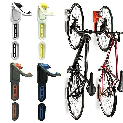 Ordinaire Reliancer 2 Pack Foldable Vertical Bike Rack Wall Mounted Bicycle Cycle Storage  Rack Single Bike Hook