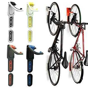 Superbe Reliancer 3 Color Foldable Vertical Bike Rack Wall Mounted Bicycle Cycle  Storage Rack Single Bike Hook