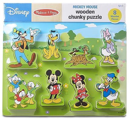 amazon com melissa doug disney mickey mouse clubhouse wooden