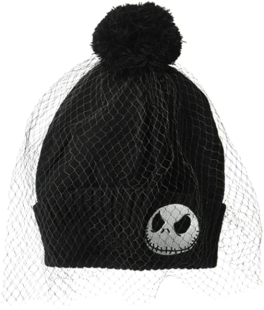 632f4dc0 Nightmare Before Christmas Jack Skellington Winter Beanie with Veil