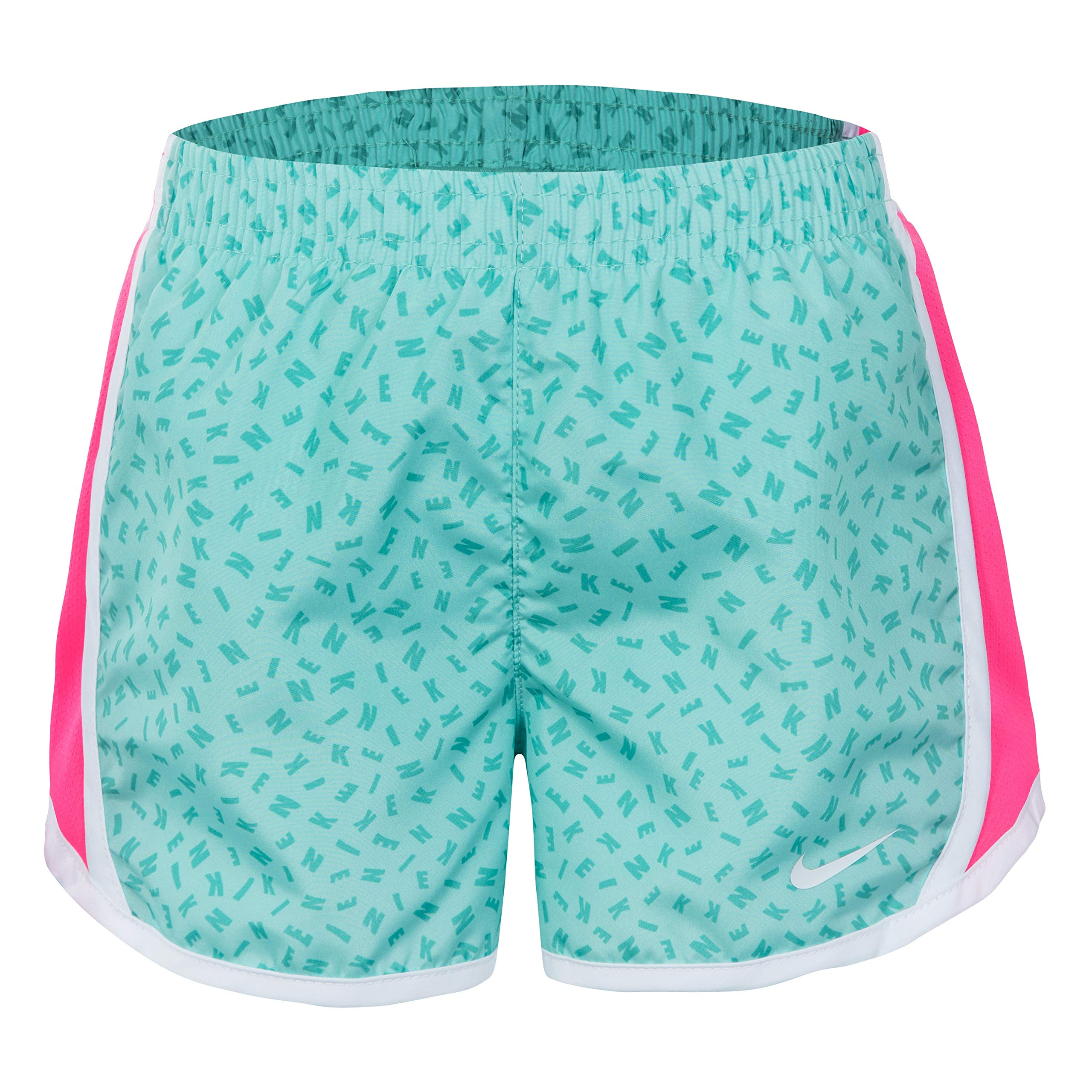 NIKE Children's Apparel Girls' Little Dri-FIT Tempo Shorts, Kinetic Green, 6X by NIKE Children's Apparel
