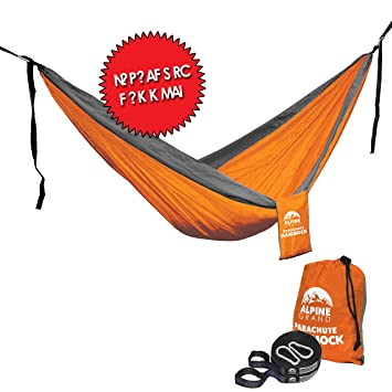 alpine grand premium lightweight portable parachute hammock  u2013 two free hanging straps with flat loop design amazon    alpine grand premium lightweight portable parachute      rh   amazon