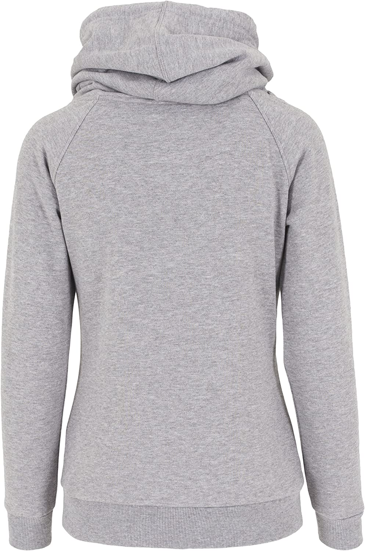 Urban Classics Womens Kapuzenpullover Ladies Raglan High Neck Hoody Sweater