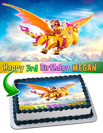 Lego Elves Topper Personalized Birthday 1 4 Sheet Decoration Custom Party Sugar Frosting