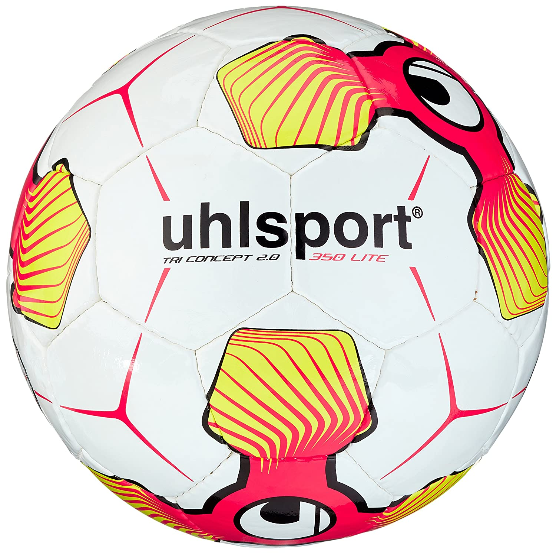 Uhlsport Tri Concept 2.0 350 Lite Balones de Fútbol, Blanco, 5 100159301