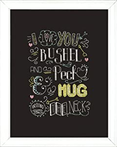 """Design Works Crafts 2888 Hug Chalkboard Counted Cross Stitch Kit, 8 by 10"""""""