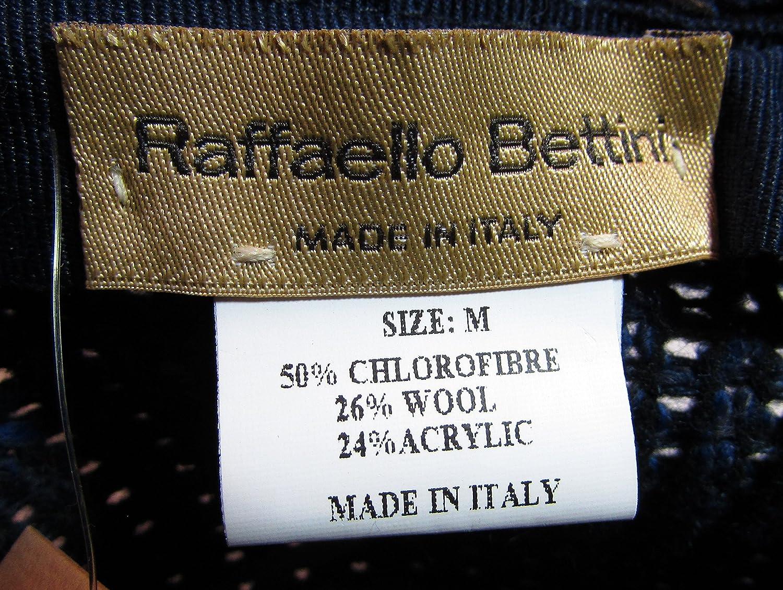 Medium Blue Raffaello Bettini Mens Wool Acrylic Blend Rounder Fedora Hat