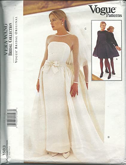 Amazon.com: Vogue 1583 Sewing Pattern Misses Bridal Gown Size 14-18 ...