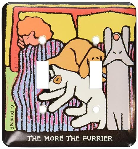 3dRose LLC lsp_36691_2 - Cama para perro, diseño de perros con dibujos animados, perros