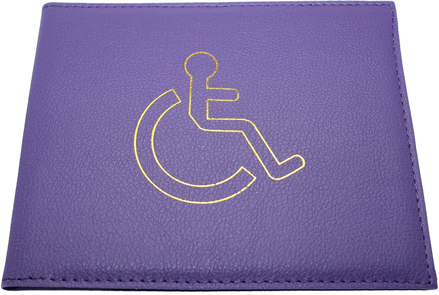 Royal Blue Deluxe Leather Disabled Badge Holder