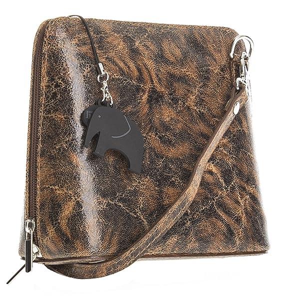 Amazon.com: Big Bolso Shop Womens Mini Bolso Bandolera Piel ...