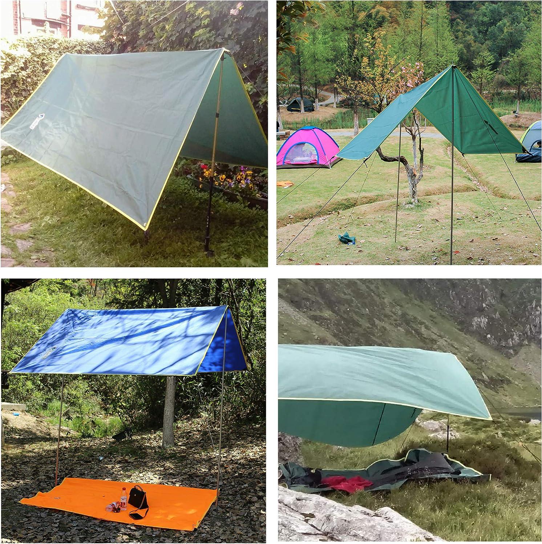 TRIWONDER Tarp B/âche de Tente Hamac Tapis de Sol Couverture Anti-Pluie Abri Parasol Auvent Imperm/éable L/éger pour Camping Pique-Nique
