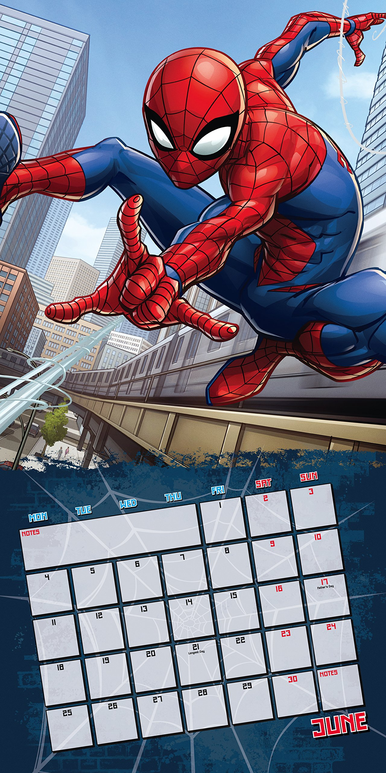 Spiderman Official 2018 Calendar - Square Wall Format