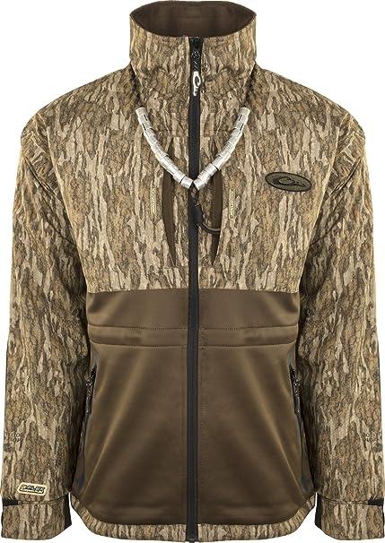 cbd96195 Amazon.com: Drake Guardian Flex Full Zip Eqwader Wading Jacket, Color: Mossy  Oak Bottomland, Size: Large (DW7310-006-3): Sports & Outdoors