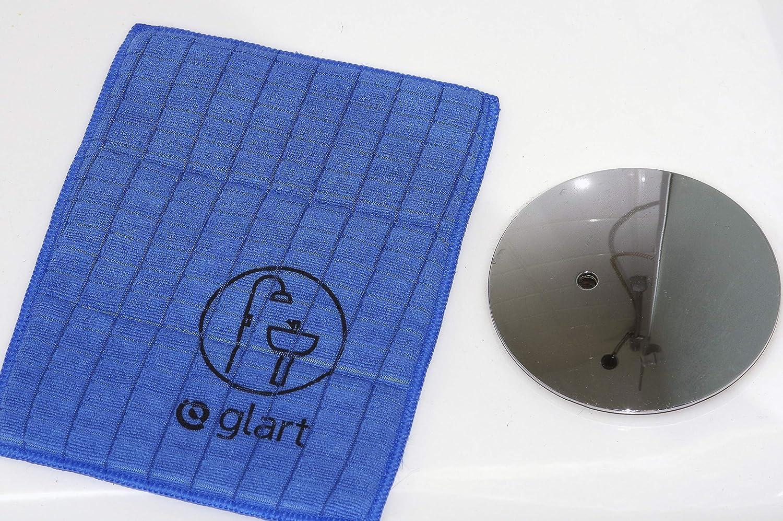 Glart 4PAS Set di 3 Panni in Microfibra per Bagno WC Sanitari e Ambienti Domestici Doccia